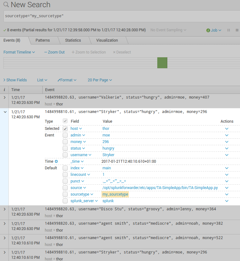 Simple Splunk Scripted Input Example – Sublime Robots